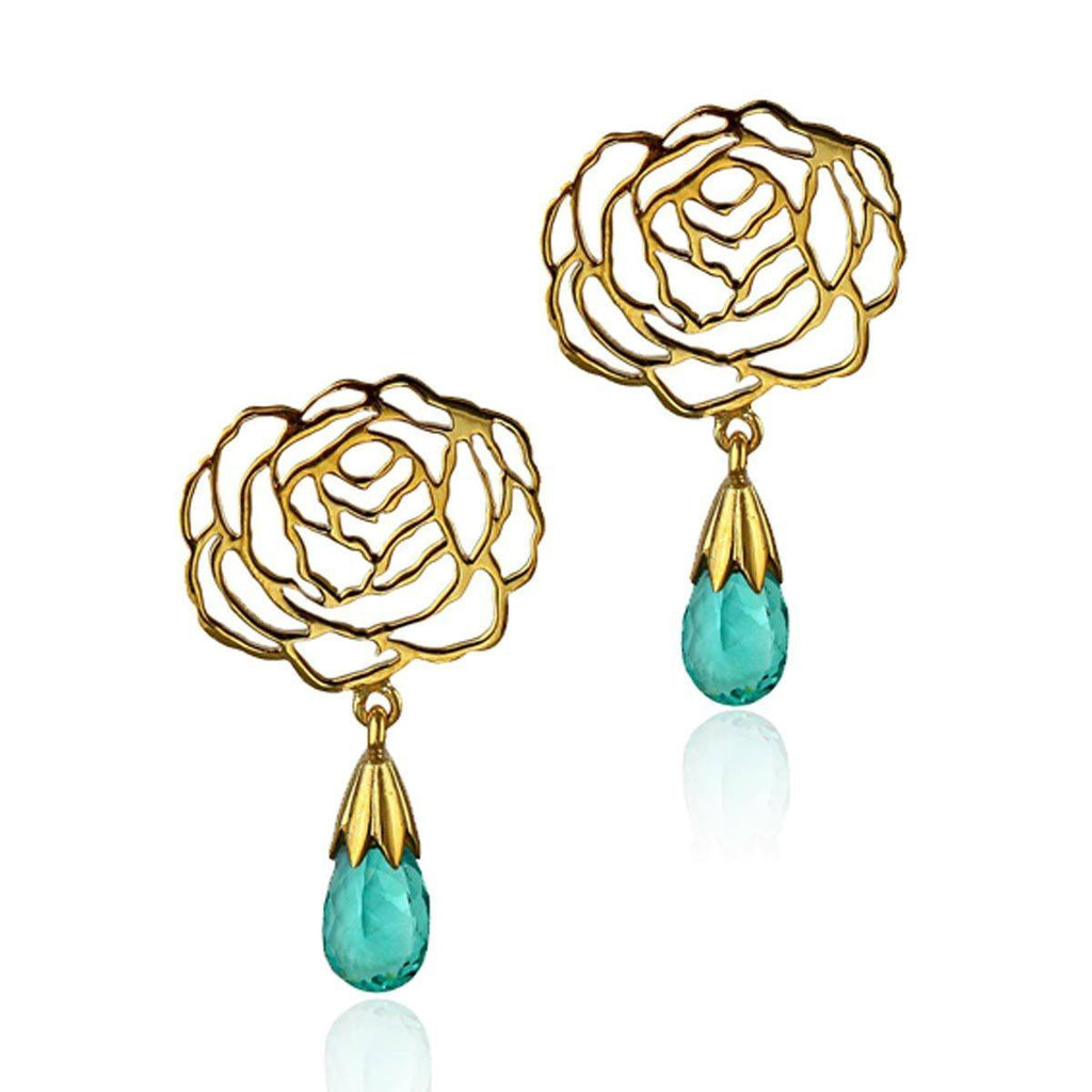 I Rose Earrings - Apatite - Eina Ahluwalia
