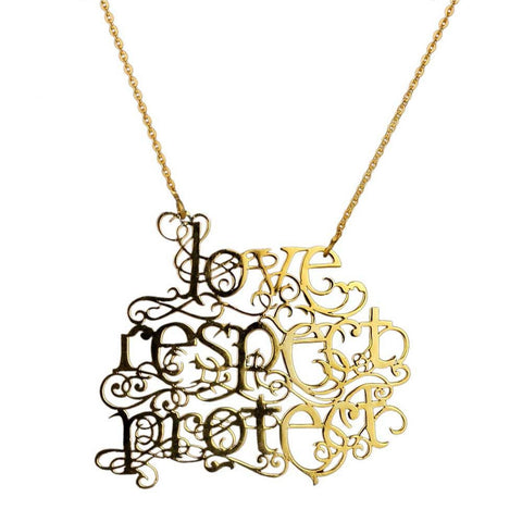 Love Respect Protect Necklace