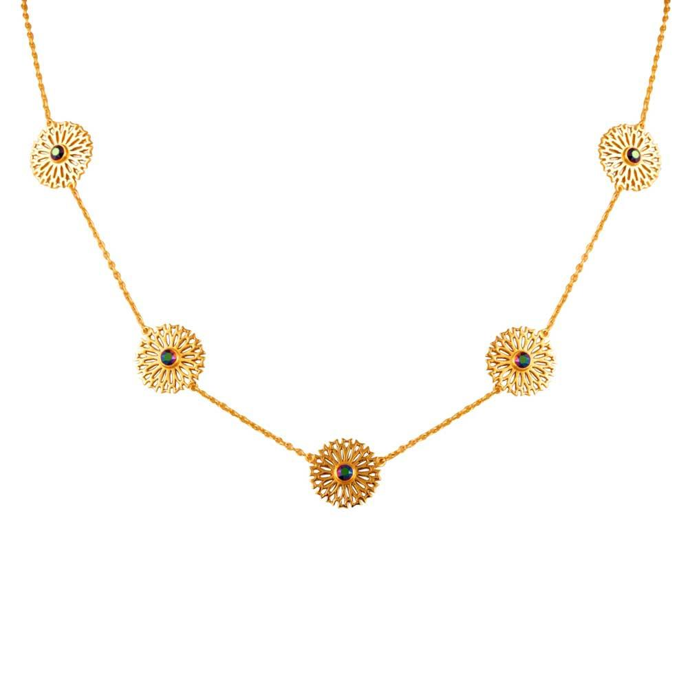 Persian Jaal Disc Necklace - Confluence by Swarovski - Eina Ahluwalia