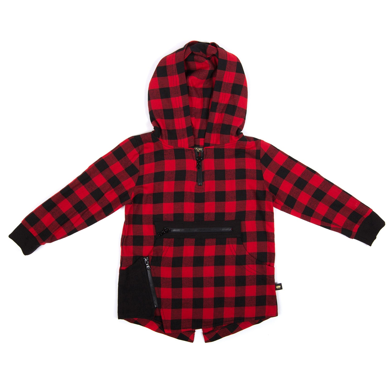 Fish Tail Hoodie Flannel - Kid Kong NYC