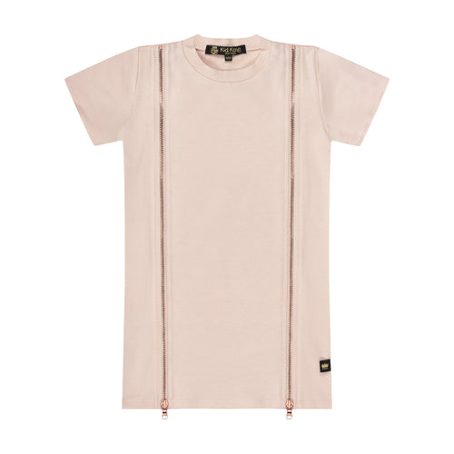 Pink Double Zip Dress - Kid Kong NYC