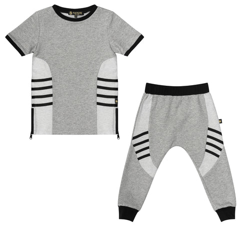 Terry Racer Top + Jogger Set - Kid Kong NYC