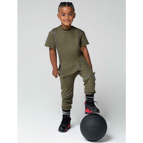 Double Zip Top + Jogger Set - Kid Kong NYC