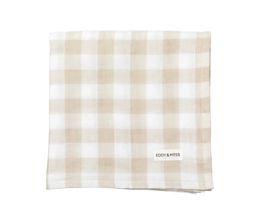 SANDSTONE CHECK EDDY & MOSS SWADDLE