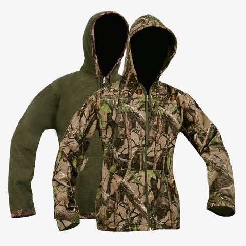 Ladies Soft Shell Reversible Hoodie