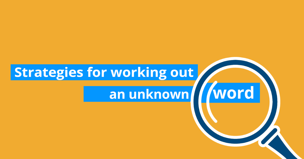 Strategies for working out an unknown word