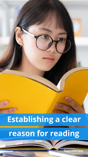 Establishing a clear reason for reading - logonliteracy