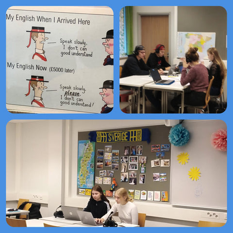 Students are studying Swedish, Finland's second national language.