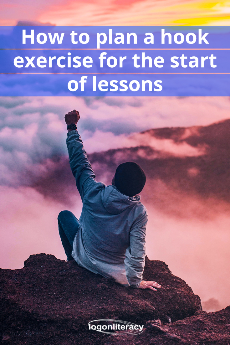 How to plan a hook exercise for the start of lessons