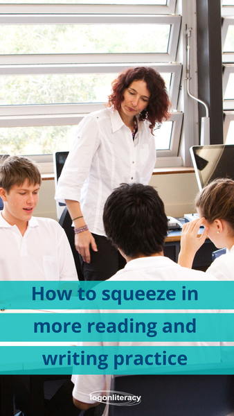 How to squeeze in more reading and writing practice