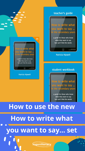 How to use the new How To Write What You Want To Say... set