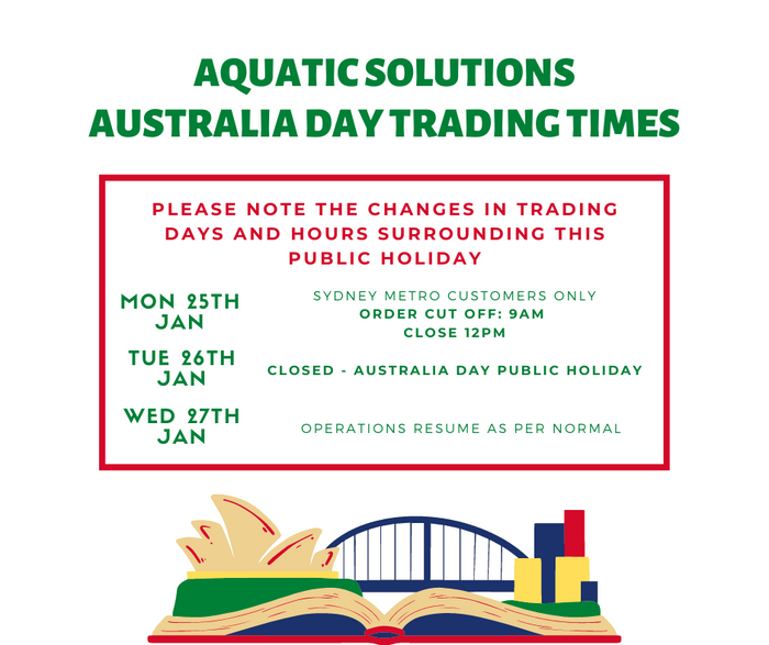 AQUATIC SOLUTIONS AUSTRALIA DAY TRADING 2021