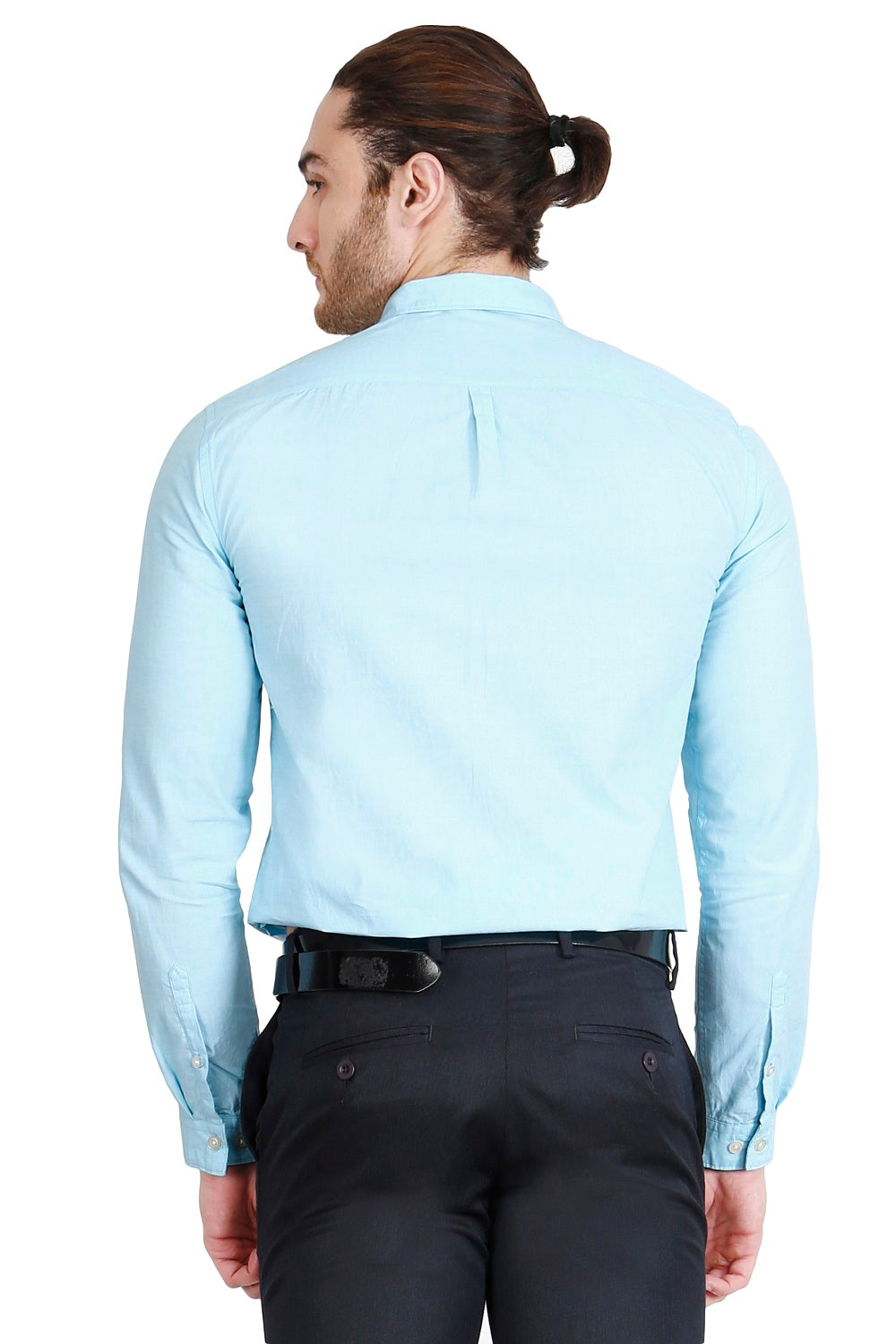 Blue Solid Formal Full Sleeve Shirt
