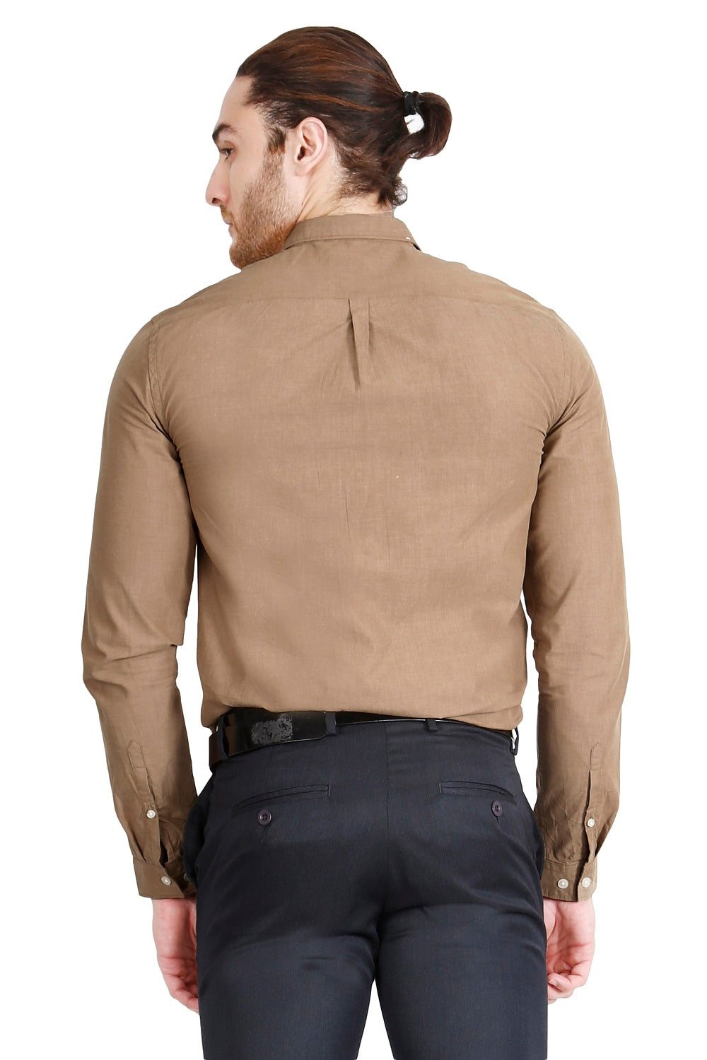 Brown Solid Formal Full Sleeve Shirt
