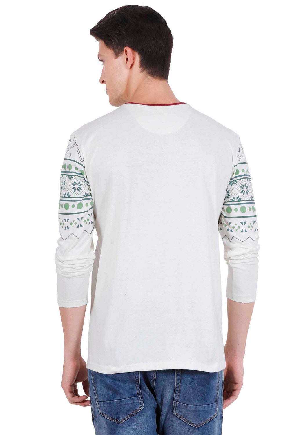 Hunt and Howe Men's Round Neck Full Sleeve Printed T-Shirt