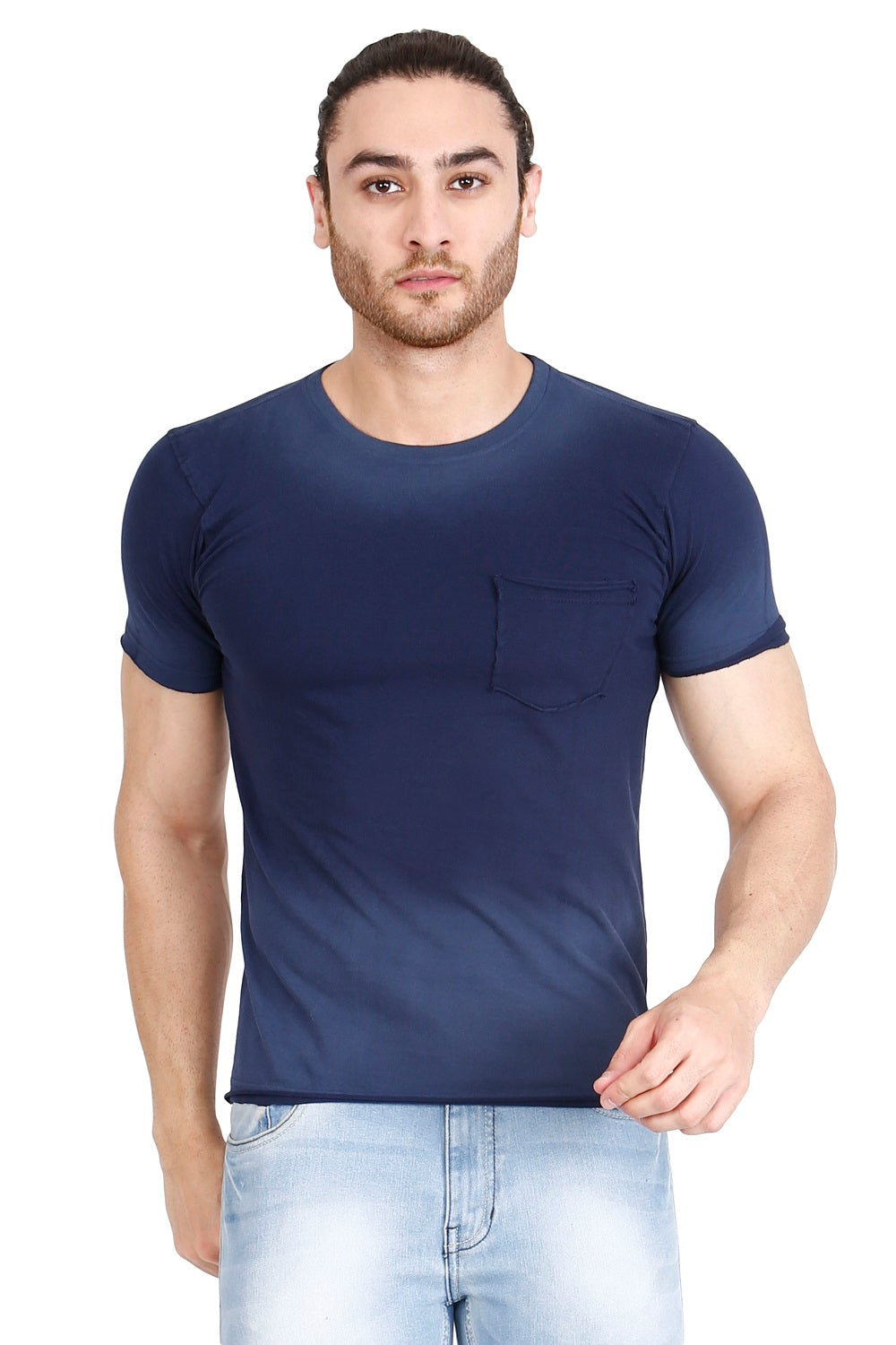 Hunt and Howe Men's Ombry dyed Indigo T-Shirt