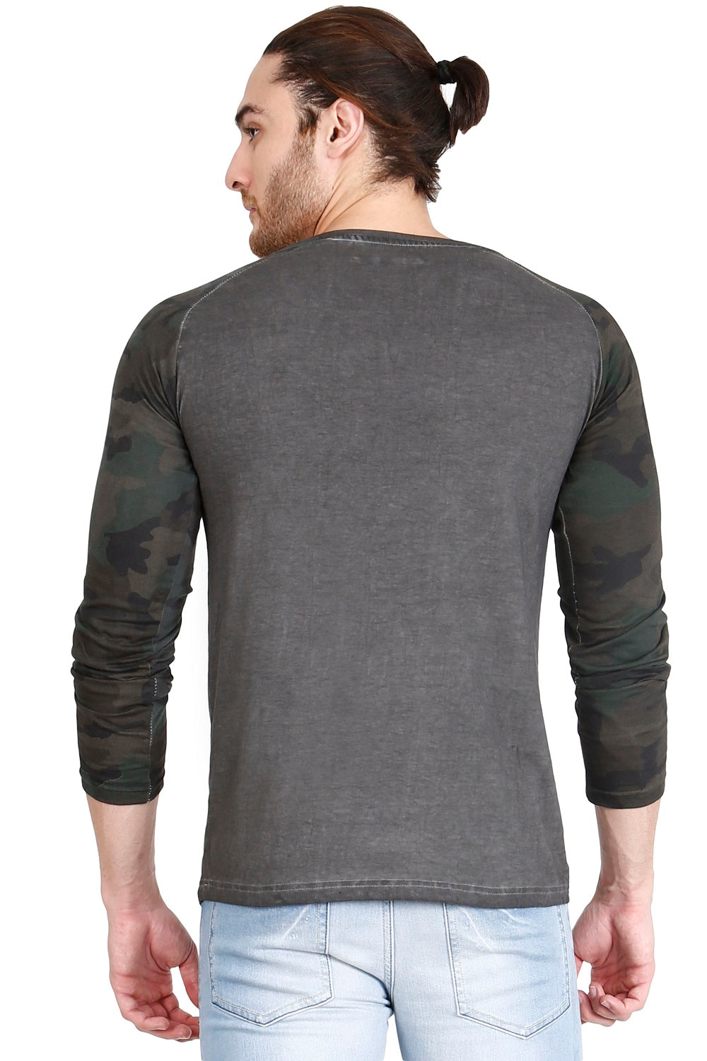 Hunt and Howe Men's Overdyed Full Sleeves T-Shirt