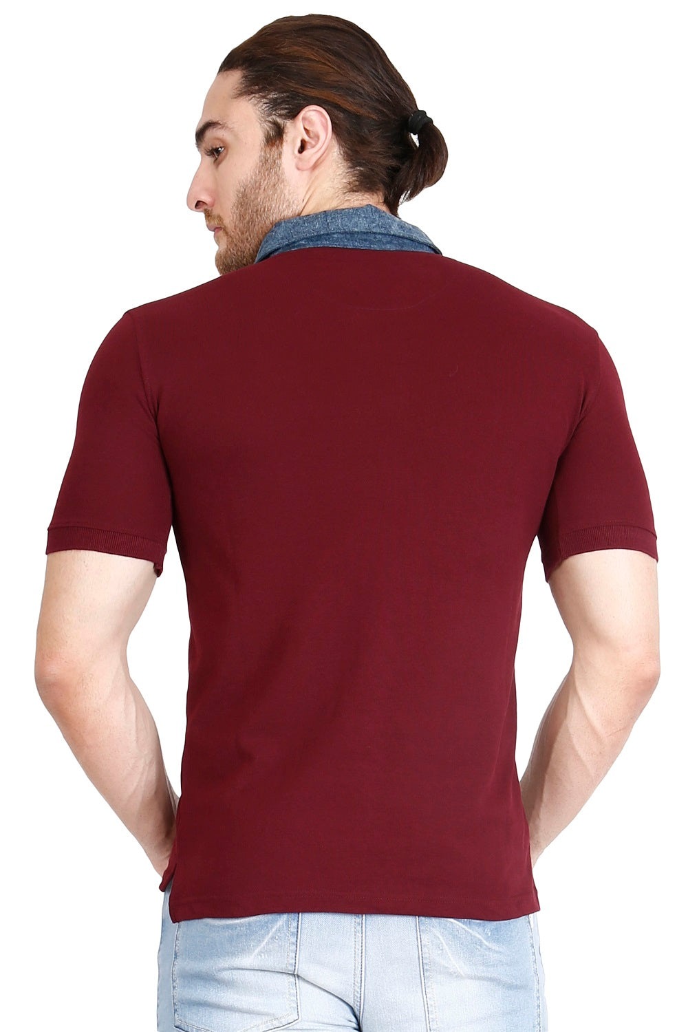 Hunt and Howe Men's Maroon Solid Polo T-Shirt