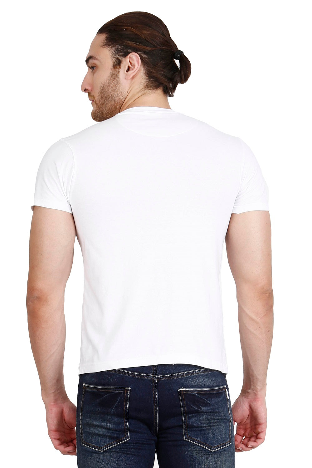 Hunt and Howe Men's White Laser Cut T-Shirt