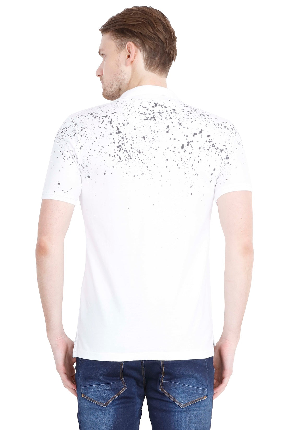 Hunt and Howe Men's Spray Printed White T-Shirt