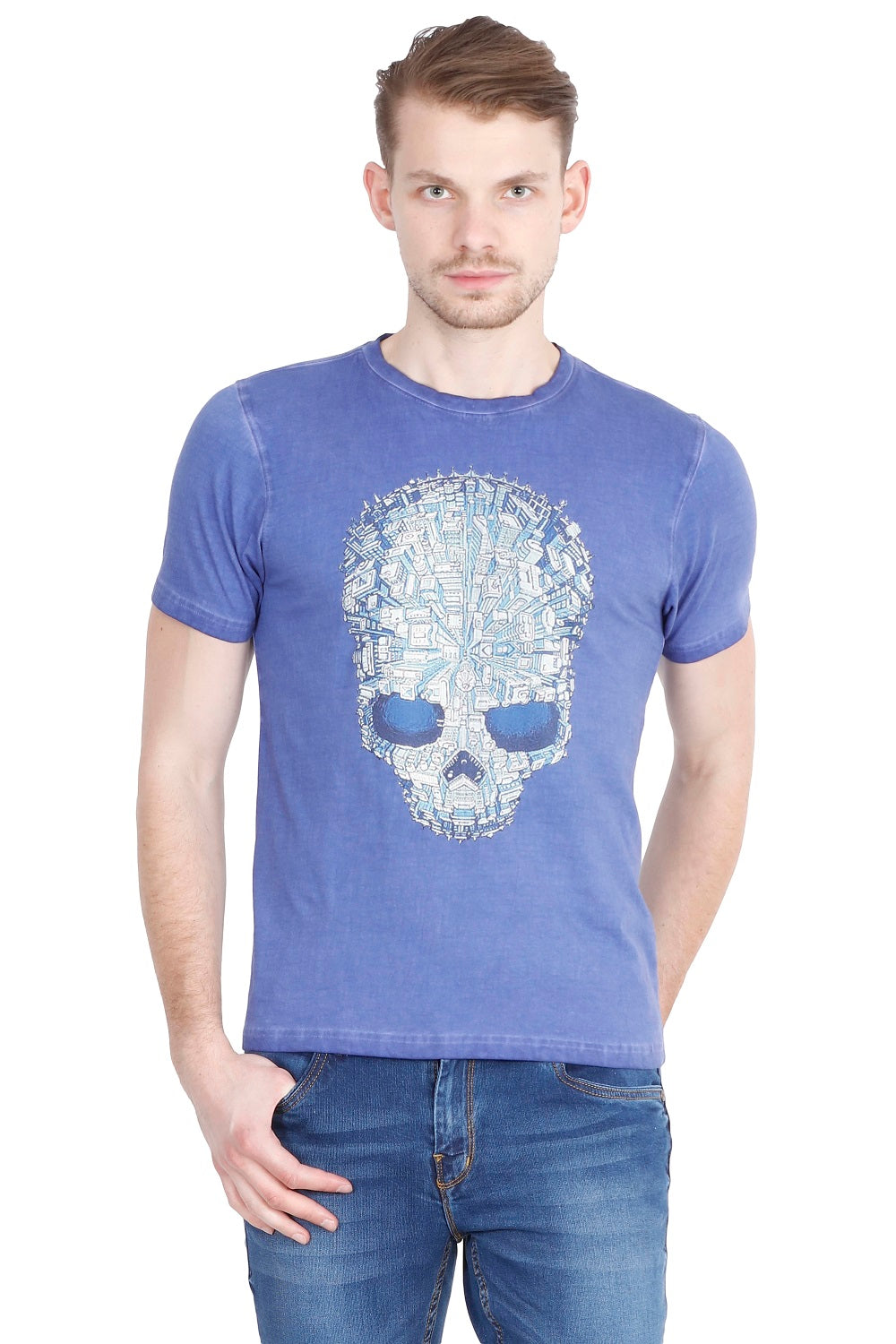 Hunt and Howe Men's Printed Round Neck T-Shirt