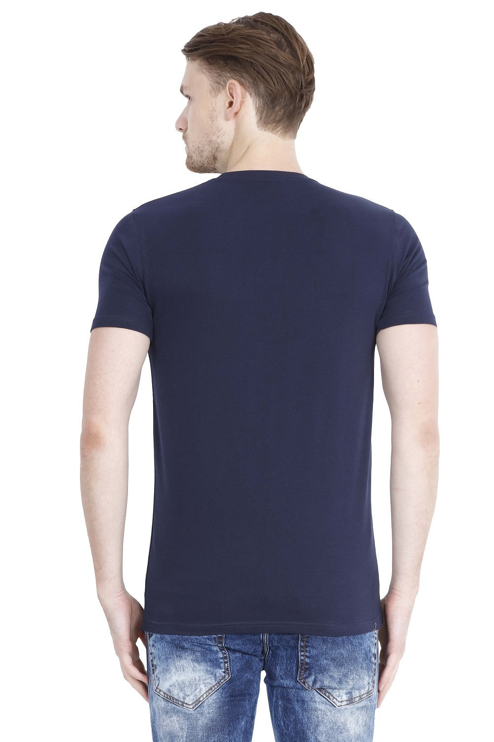 Hunt and Howe Navy Blue Laser Cut T-shirt