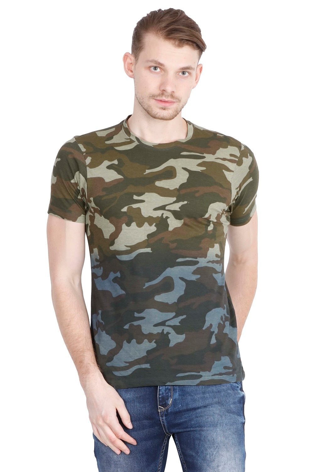 Hunt and Howe Men's Ombry Dyed Camouflage Short Sleeve T-Shirt