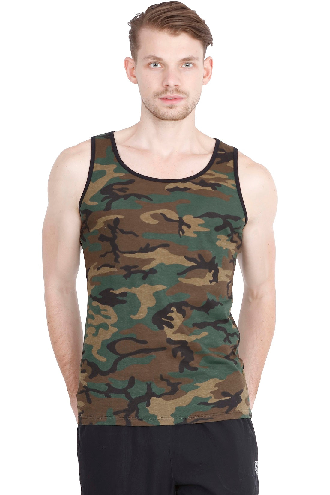 Hunt and Howe Men's Camouflage Sleeveless T-Shirt