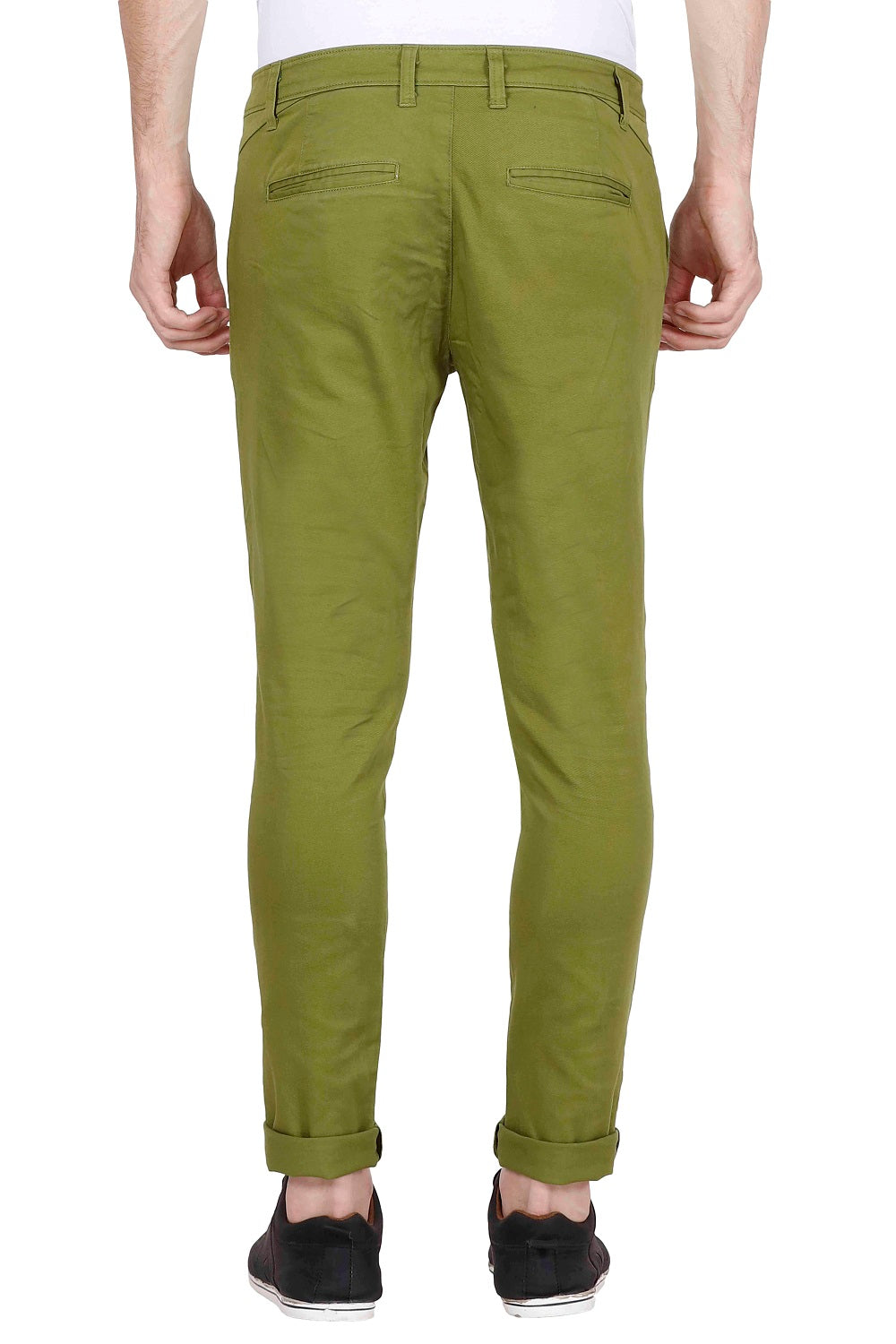 Men's Slim Fit Green Chinos