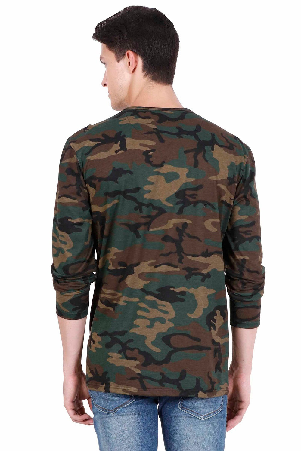 Hunt and Howe Men's Camouflage Full Sleeve T-Shirt