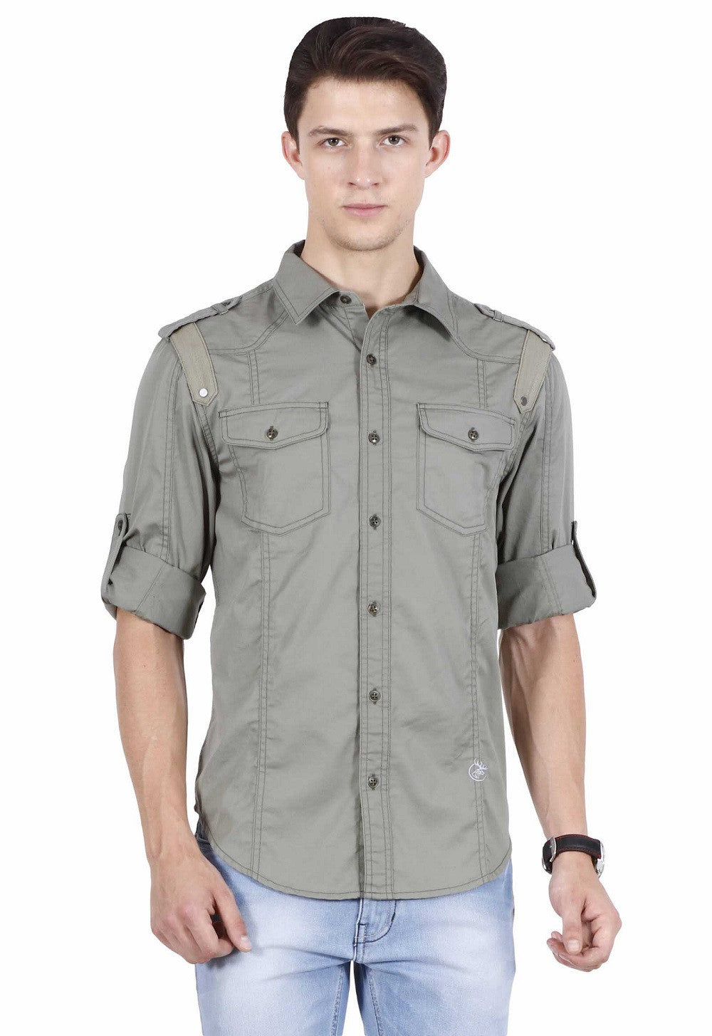 Hunt and Howe Military Green Casual Shirt