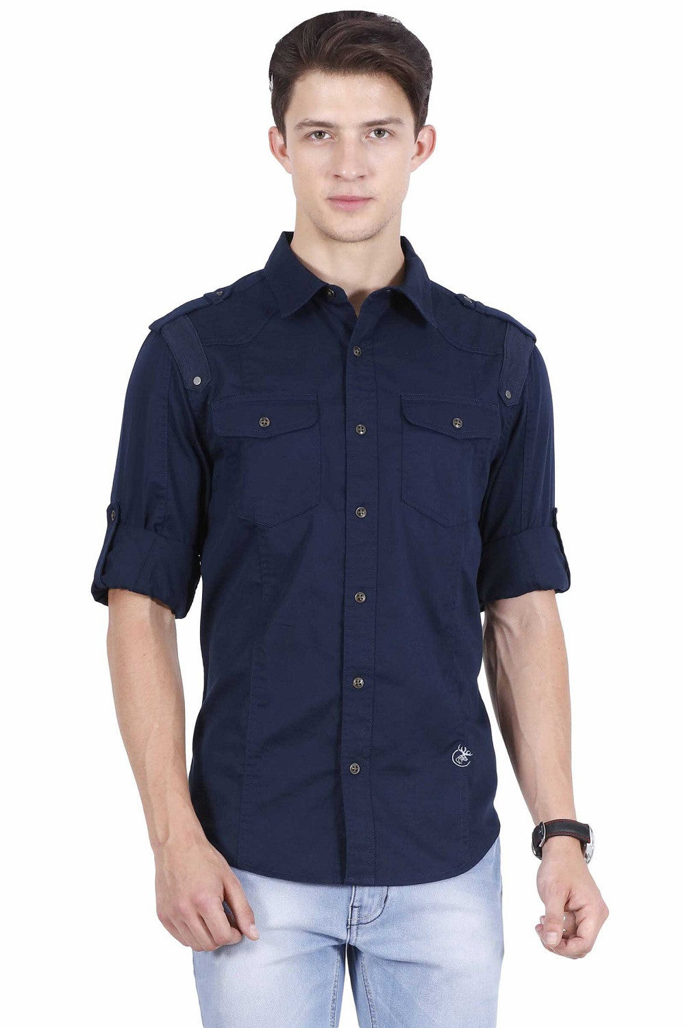 Hunt and Howe Navy Blue Casual Shirt