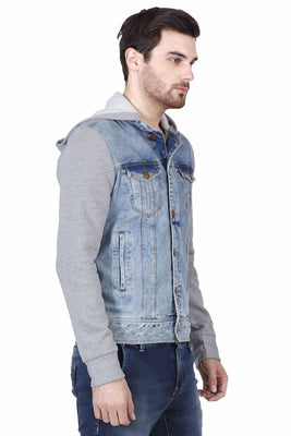 Hoodie Denim slim fit Jacket
