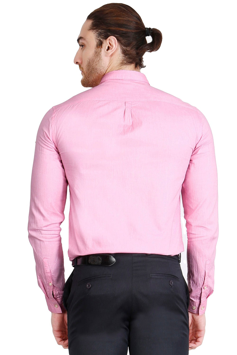 Pink Solid Formal Full Sleeve Shirt