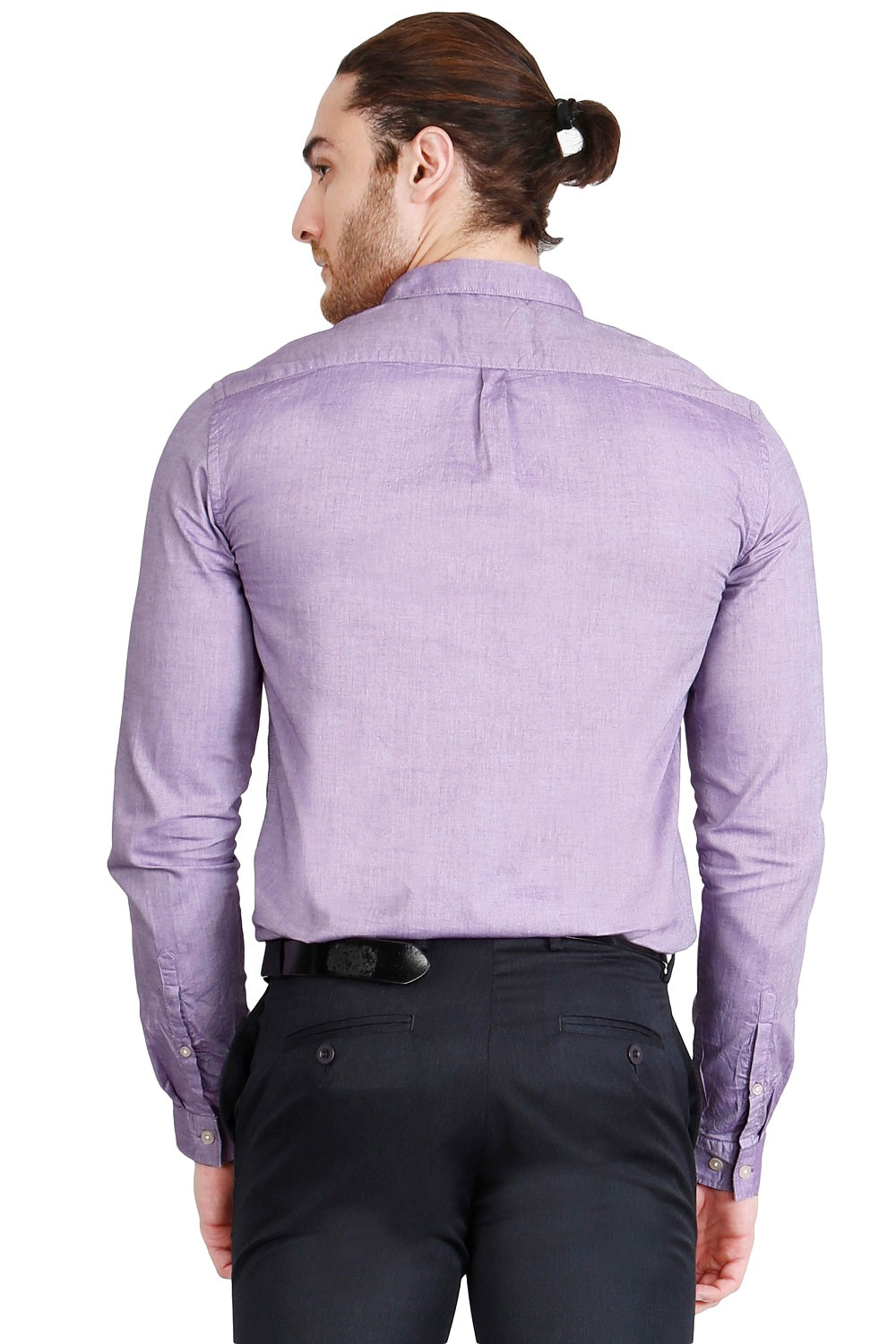 Purple Solid Formal Full Sleeve Shirt