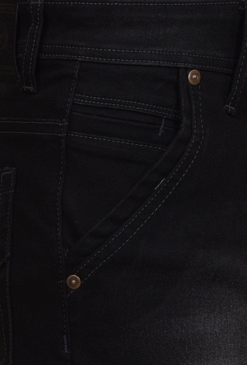 Black comfort fit denims