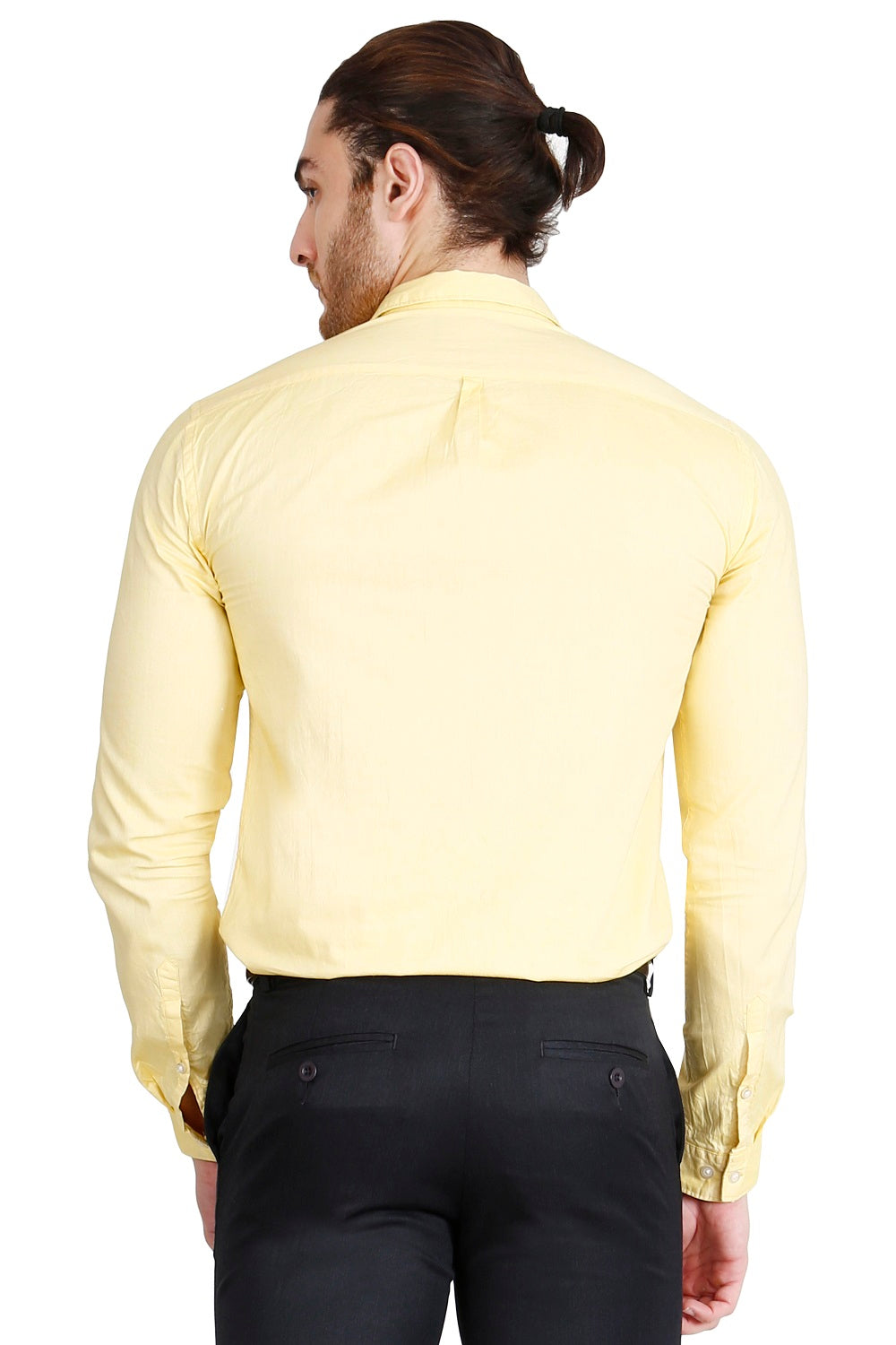 Yellow Solid Formal Full Sleeve Shirt