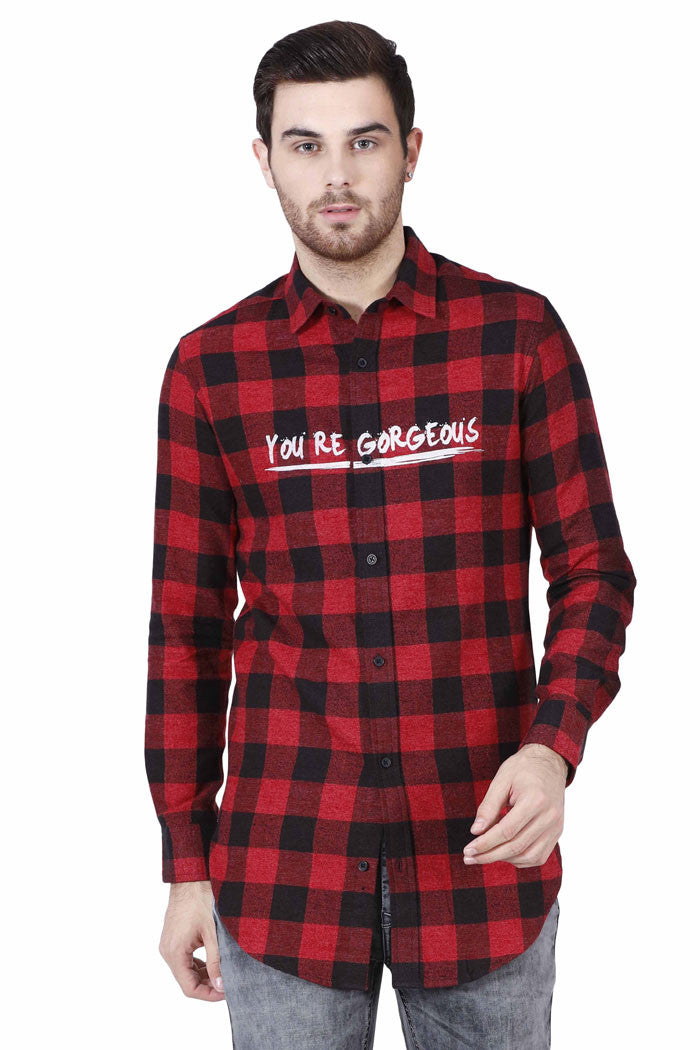 Longline Hip Hop Plaid shirt