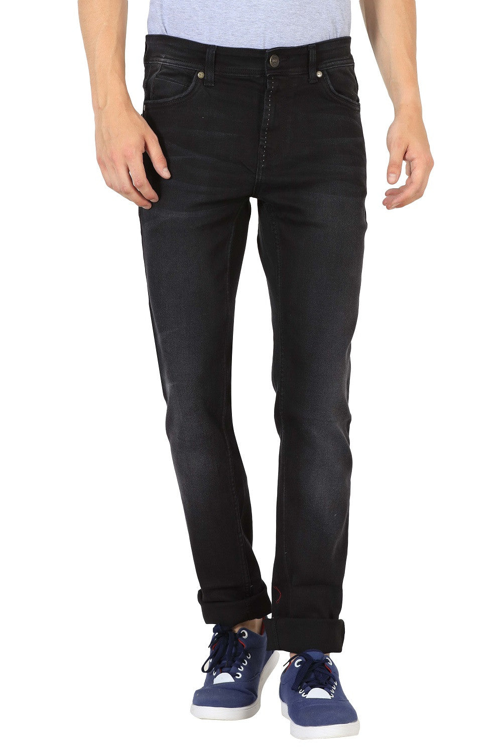 IMYOUNG Jet Black Slim Fit Jeans
