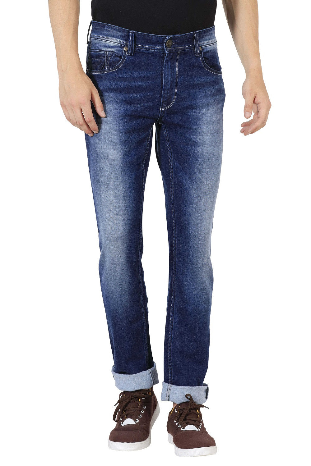 IMYOUNG Mid Blue Slim Fit Jeans