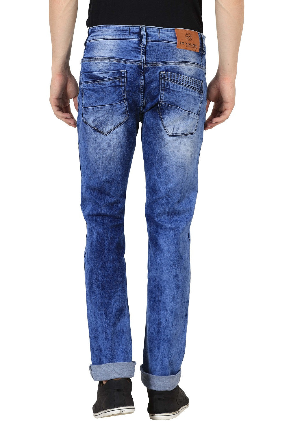 IMYOUNG Light Blue Slim Fit Jeans