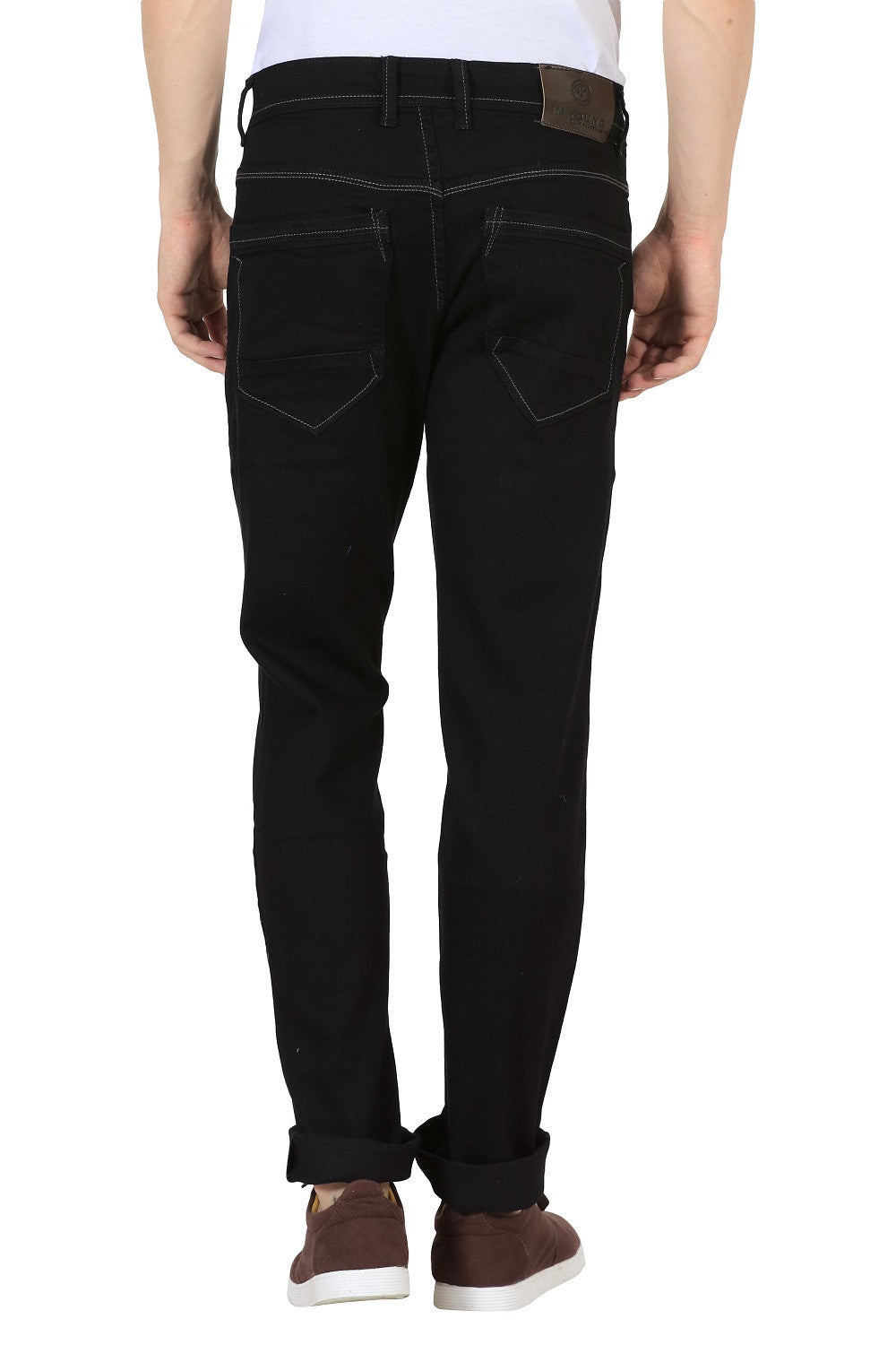 IMYOUNG Black Slim Fit Jeans