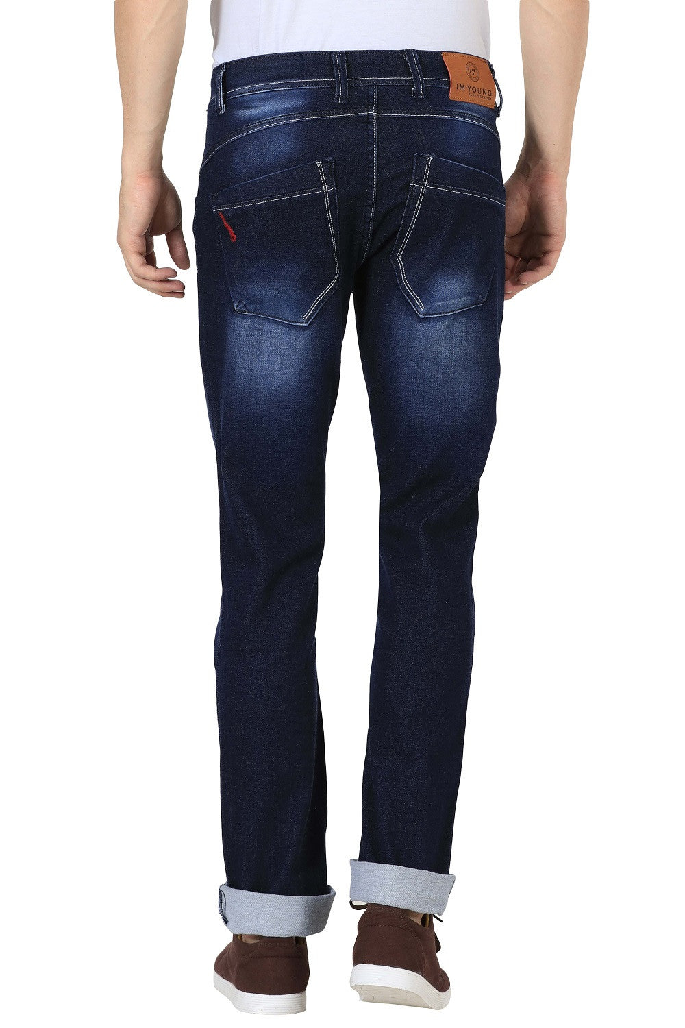 IMYOUNG Dark Blue Slim Fit Jeans