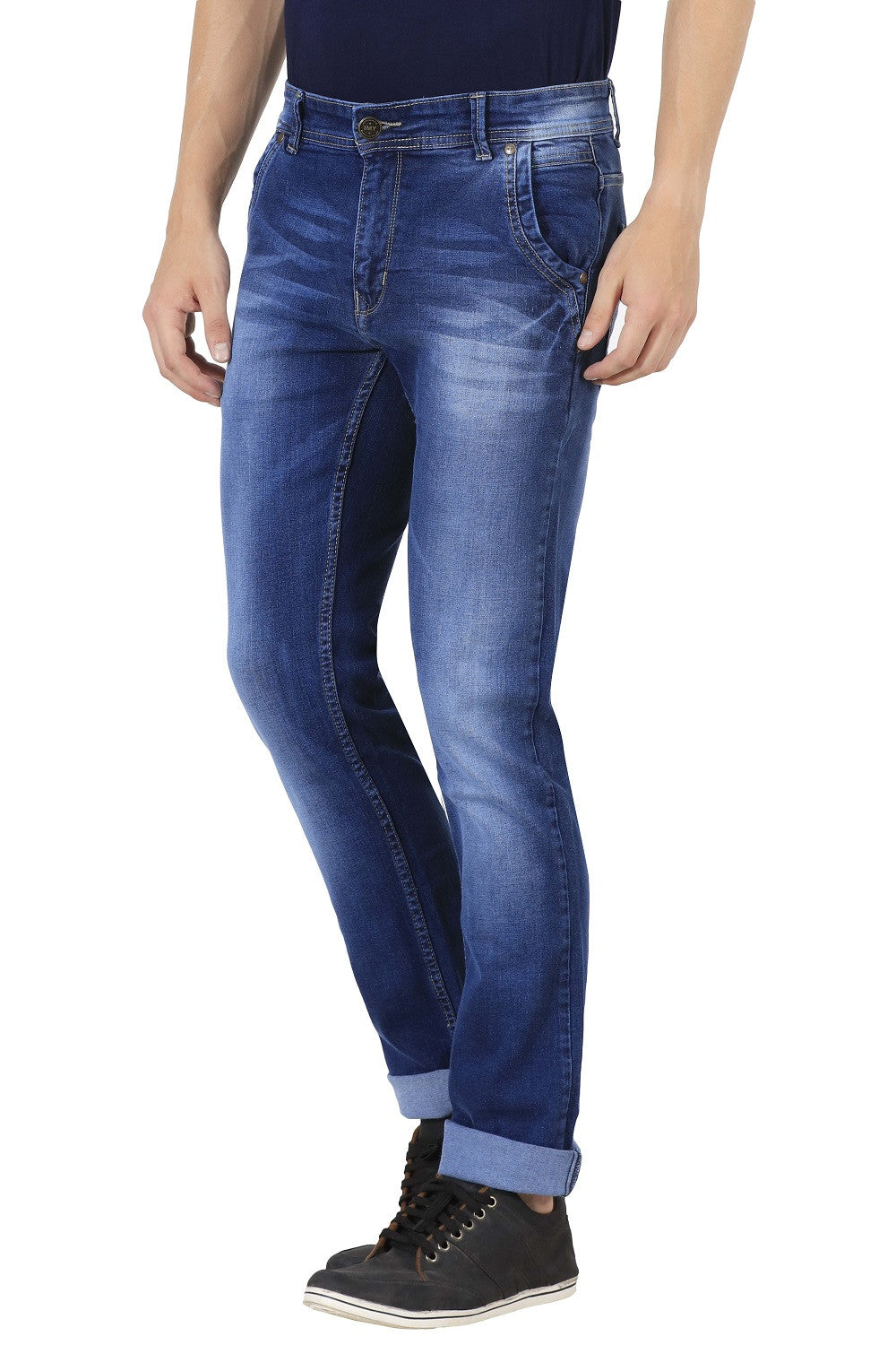 IMYOUNG Blue Slim Fit Jeans