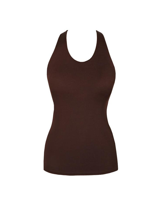 26d2c7d5666 KDeer Tank Top with Shelf - Solid Cocoa