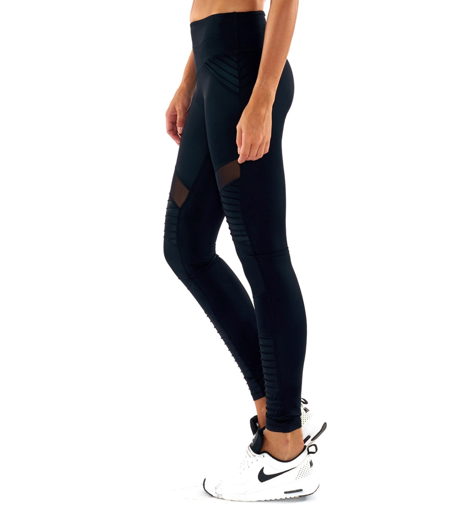 Fever Pitch Moto Legging - Black