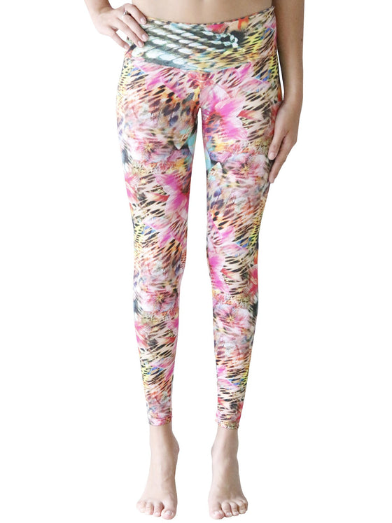 Digitale Leggings - Fuchsia Haze