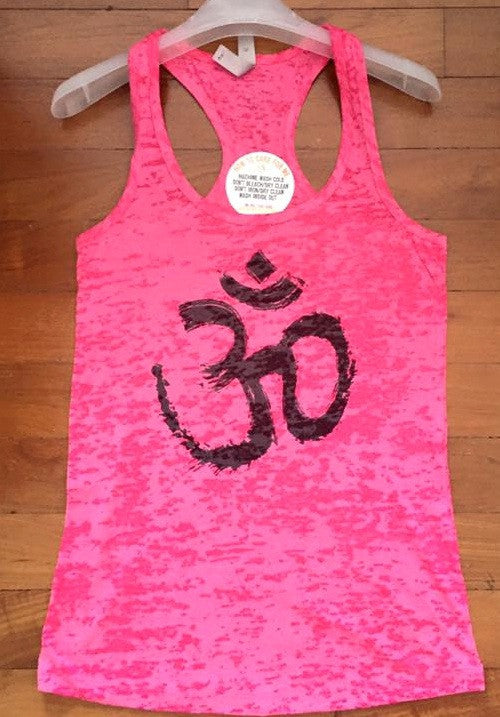 Om Tank (Hot Pink with Black OM)