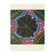 Lily Pad (Painted) , Lino Print - Ann Carmel Mulvien / Tucker. My Country. My Culture