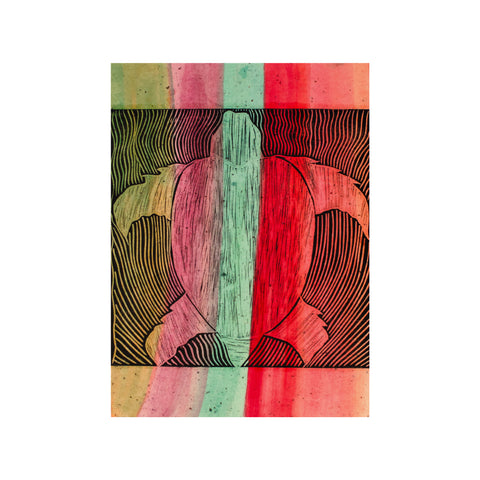 Untitled (multicolored), Lino Print - Benedicta Wungung / Tucker. My Country. My Culture